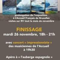 FINISSAGE - Mardi 26 novembre 2019 18:00-21:00